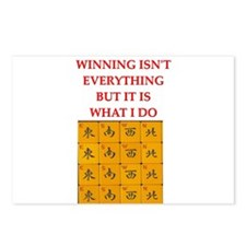 funny mahjong Postcards (Package of 8)