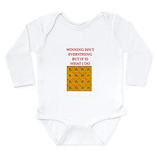 funny mahjong Long Sleeve Infant Bodysuit