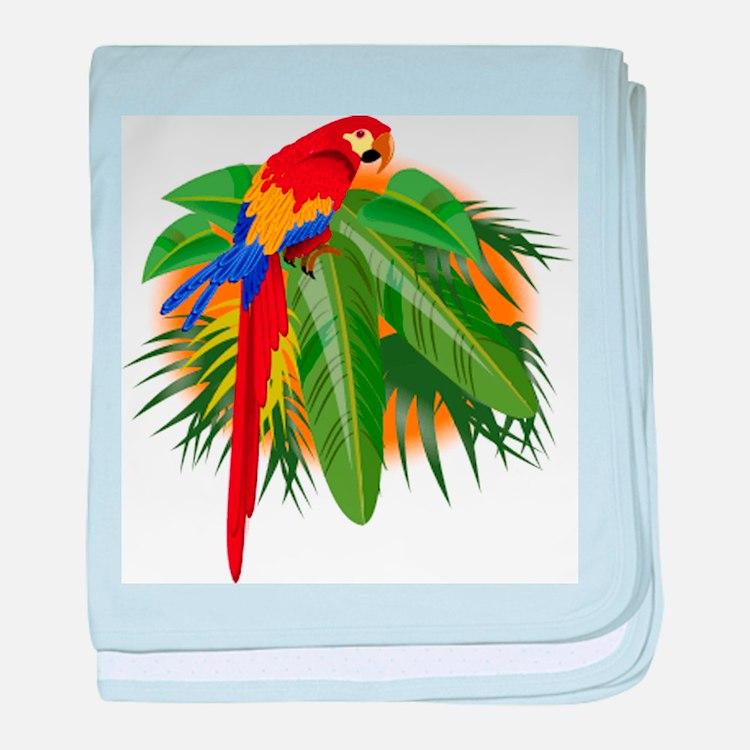 Parrot baby blanket