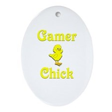 Gamer Chick Ornament (Oval)