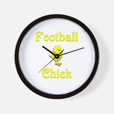 Football Chick Wall Clock