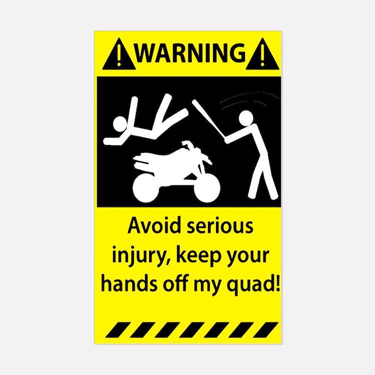 Quad Warning Decal