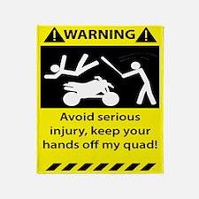 Quad Warning Throw Blanket