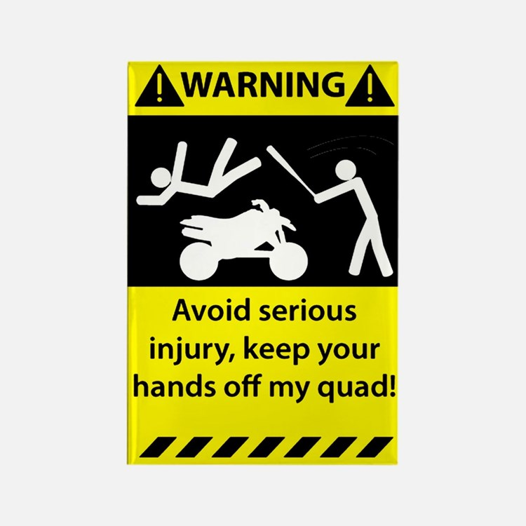 Quad Warning Rectangle Magnet