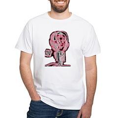 Retro Agitation Man is on Shirt