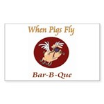 When Pigs Fly! Sticker (Rectangle 10 pk)