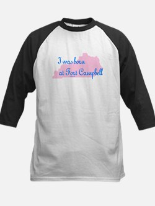 Born at Fort Campbell (pink) Kids Baseball Jersey