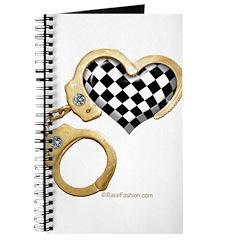 checkered heart and handcuffs Journal