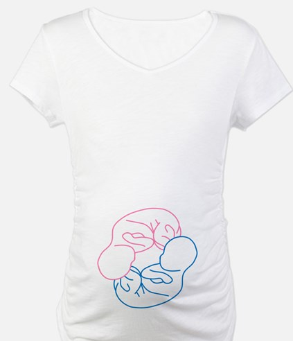 Boy-Girl Twins Baby Belly Shirt