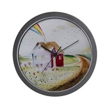 The House In The Swing Wall Clock