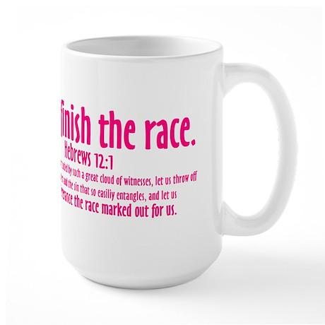 I Will Finish the Race: Hebrews 12:1 Large Mug