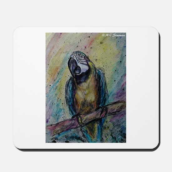 Blue & Gold Macaw, Mousepad