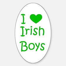 I Heart Irish Boys Oval Decal