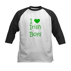I Heart Irish Boys Kids Baseball Jersey