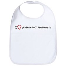 I Love Seventh Day Adventists Bib