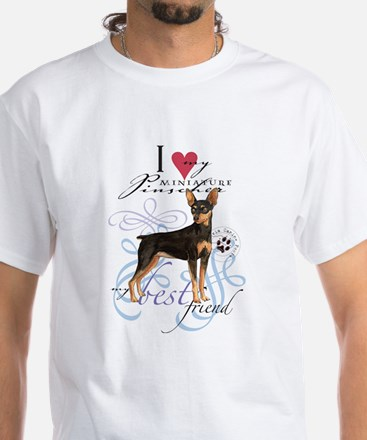 Miniature Pinscher White T-Shirt