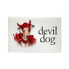 Italian Greyhound Devil Dog Rectangle Magnet