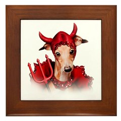 Italian Greyhound Devil Dog Framed Tile
