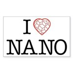 I heart Nano Sticker (Rectangle)