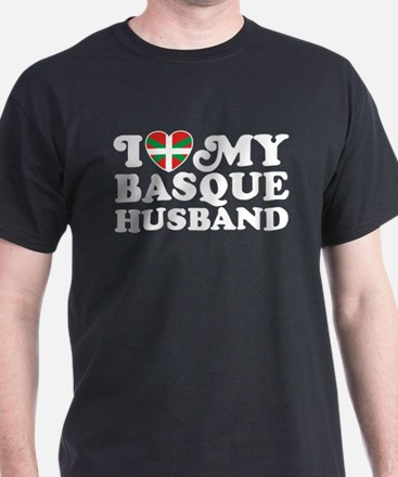 I Love My Basque Husband T-Shirt
