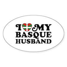 I Love My Basque Husband Decal