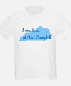 Born at Fort Campbell (blue) Kids T-Shirt