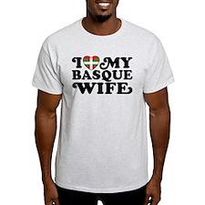I Love My Basque Wife T-Shirt