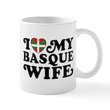 I Love My Basque Wife Small Mug