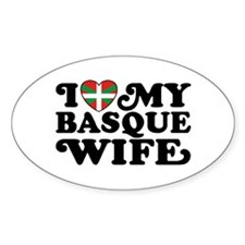 I Love My Basque Wife Decal