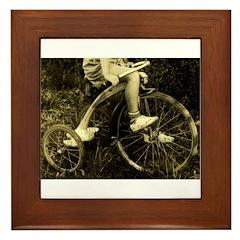 Boy Tricycle Go ZOOM Framed Tile
