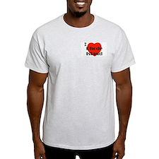 I Love Rhode Island Ash Grey T-Shirt