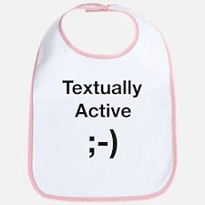 Textually Active Black Bib