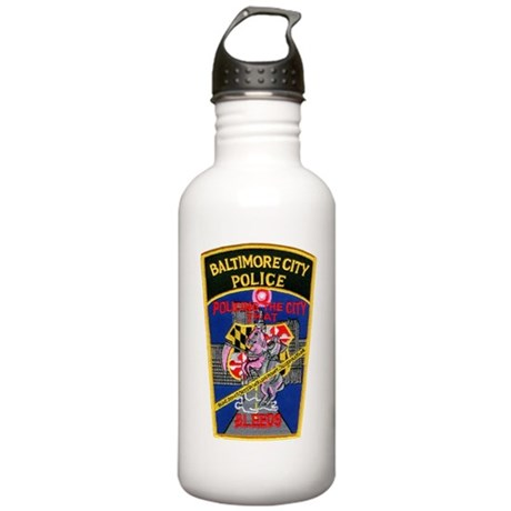 Baltimore City Police Stainless Water Bottle 1.0L