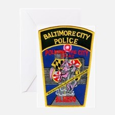 Baltimore City Police Greeting Card