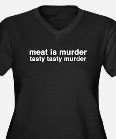 meat is murder - tasty tasty Women's Plus Size V-N