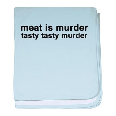 meat is murder - tasty tasty baby blanket