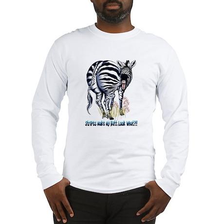Do my stripes make my butt look fat? Long Sleeve T