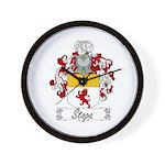 Stopa Family Crest Wall Clock