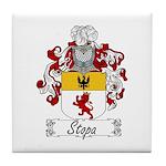 Stopa Family Crest Tile Coaster