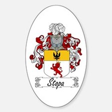 Stopa Family Crest Oval Decal