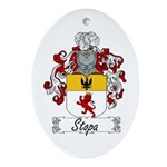 Stopa Family Crest Oval Ornament