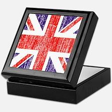 Distressed British Flag Keepsake Box
