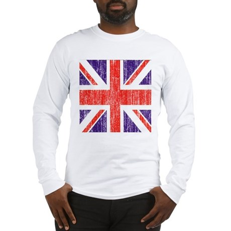 Distressed British Flag Long Sleeve T-Shirt