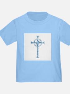 Blue Clouds Celtic Cross T