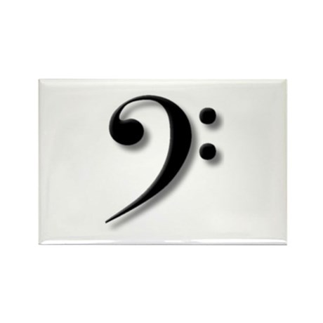 The Impressive Bass Clef Rectangle Magnet (10 pack