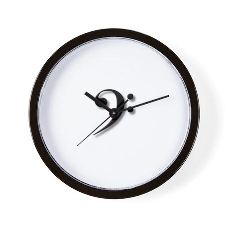 The Impressive Bass Clef Wall Clock