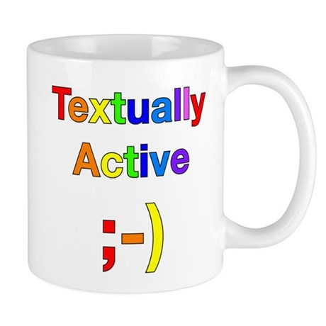 Textually Active Rainbow Mug
