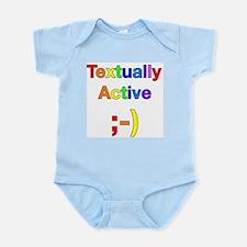 Textually Active Rainbow Infant Bodysuit