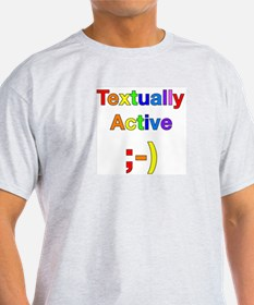 Textually Active Rainbow T-Shirt