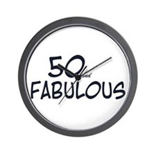 50th birthday 50 fabulous Wall Clock